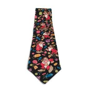 Disney Dwarfs Character Novelty Silk Tie